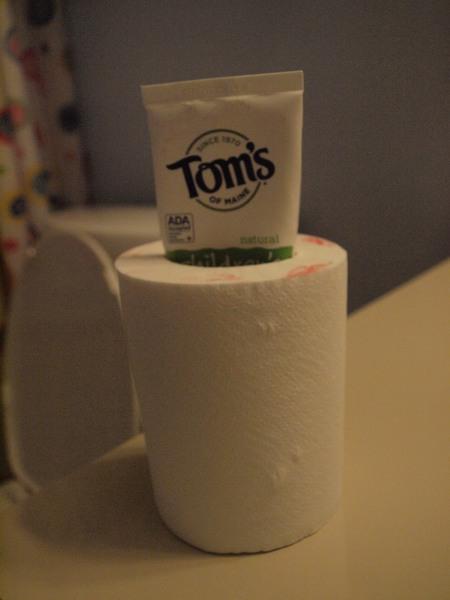 toothpaste koozie