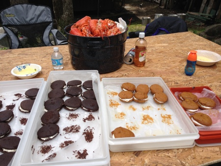 family reunion -> lobster + whoopie pies