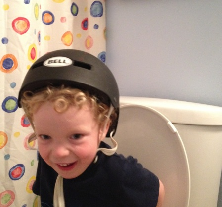 Extreme potty-training:  Safety first.