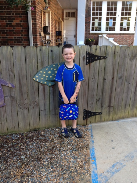 First day of kindergarten (w/ tattoo sleeve)