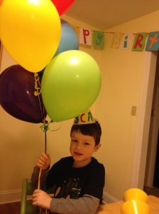 Birthday morning balloons